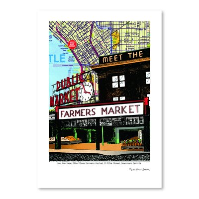 Americanflat Pike Place Market Seattle' by Lyn Nance Sasser Graphic Art