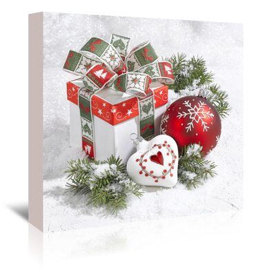 Americanflat 'Festive Gift' by Advocate Art Graphic Art Wrapped on Canvas