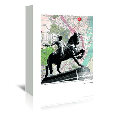 Americanflat 'Paul Revere Boston' by Lyn Nance Sasser and Stephen Sasser Graphic Art Wrapped on Canvas