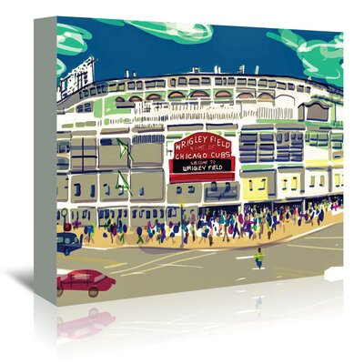 Americanflat 'Wrigley Ext' by Marian Nixon Graphic Art Wrapped on Canvas