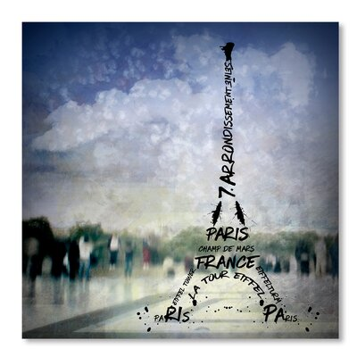Americanflat 'Digital-Art Paris Eiffel Tower No.1' by Melanie Viola Graphic Art