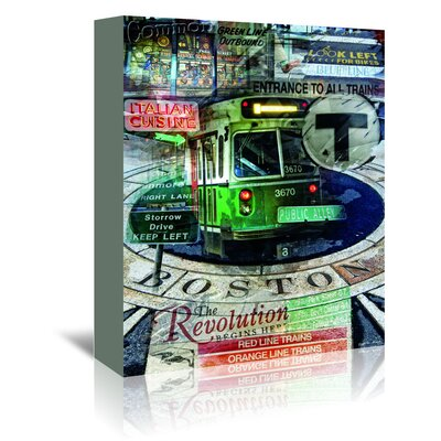 Americanflat 'Public Alley 101' by Graffi Tee Studios Graphic Art Wrapped on Canvas