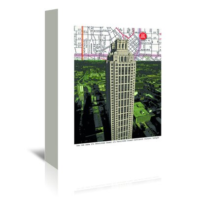 Americanflat 'Peachtree Tower' by Lyn Nance Sasser and Stephen Sasser Graphic Art Wrapped on Canvas