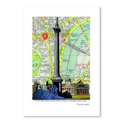 Americanflat 'Nelsons Column London' by Lyn Nance Sasser and Stephen Sasser Graphic Art