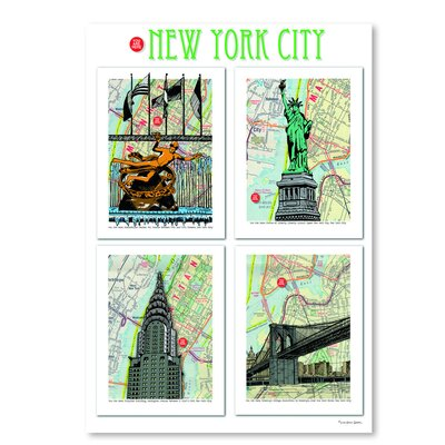 Americanflat 'New York City Poster' by Lyn Nance Sasser and Stephen Sasser Graphic Art