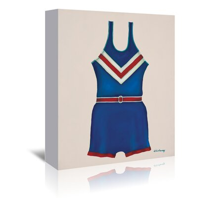 Americanflat 'Blue Uniform' by JJ Galloway Graphic Art Wrapped on Canvas