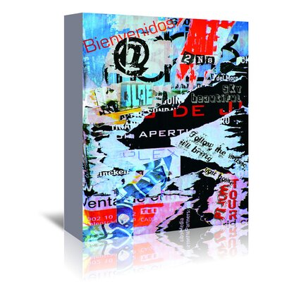 Americanflat 'Follow The Music' by Graffi Tee Studios Graphic Art Wrapped on Canvas