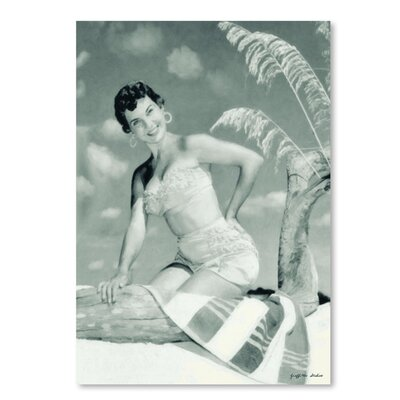 Americanflat 'Beach Towel Required' by Graffi Tee Studios Photographic Print