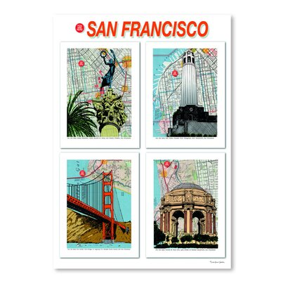 Americanflat 'San Francisco Poster' by Lyn Nance Sasser and Stephen Sasser Graphic Art