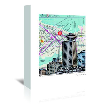 Americanflat 'Revolving Restaurant Vancouver' by Lyn Nance Sasser and Stephen Sasser Graphic Art Wrapped on Canvas