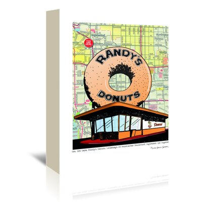 Americanflat 'Randys Donuts' by Lyn Nance Sasser and Stephen Sasser Graphic Art Wrapped on Canvas