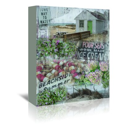 Americanflat 'Beachside Summer' by Graffi Tee Studios Graphic Art Wrapped on Canvas