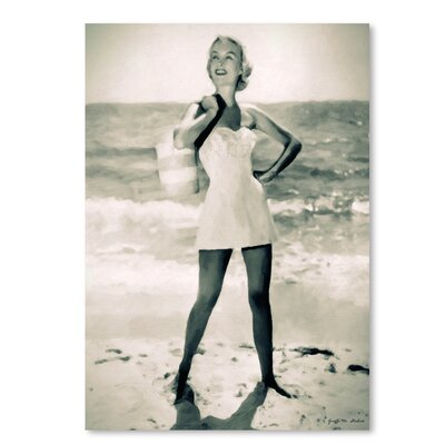 Americanflat 'Beach Tote Required' by Graffi Tee Studios Photographic Print