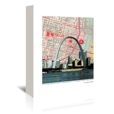 Americanflat 'Gateway Arch' by Lyn Nance Sasser and Stephen Sasser Graphic Art Wrapped on Canvas