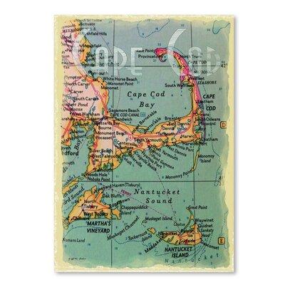 Americanflat 'Cape Cod Navigation' by Graffi Tee Studios Graphic Art