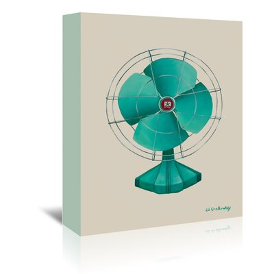 Americanflat 'Emerald Fan' by JJ Galloway Graphic Art Wrapped on Canvas