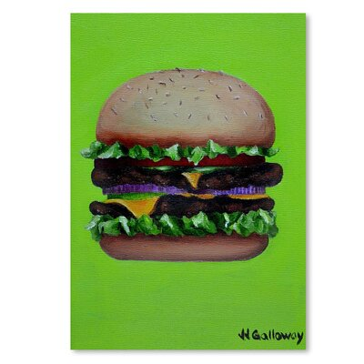 Americanflat 'Hamburger Deluxe' by JJ Galloway Graphic Art