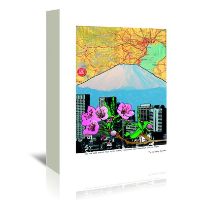 Americanflat 'Fuji-Cherry and Downtown' by Lyn Nance Sasser and Stephen Sasser Graphic Art Wrapped on Canvas