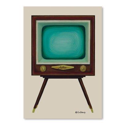 Americanflat Tv Set' by JJ Galloway Art Print