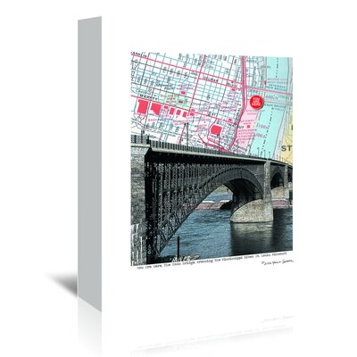 Americanflat Eads Bridge' by Lyn Nance Sasser Graphic Art Wrapped on Canvas