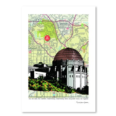 Americanflat 'Griffith Observatory' by Lyn Nance Sasser and Stephen Sasser Graphic Art