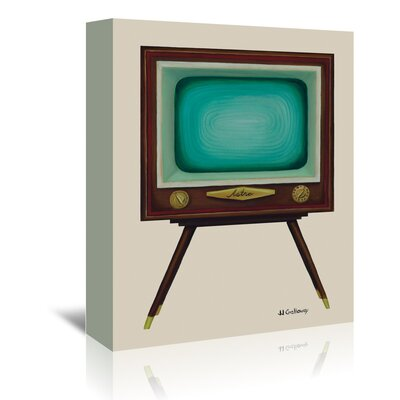 Americanflat 'Tv Set' by JJ Galloway Art Print Wrapped on Canvas