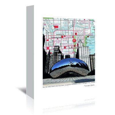 Americanflat 'Chicago Millennium Bean' by Lyn Nance Sasser and Stephen Sasser Graphic Art Wrapped on Canvas