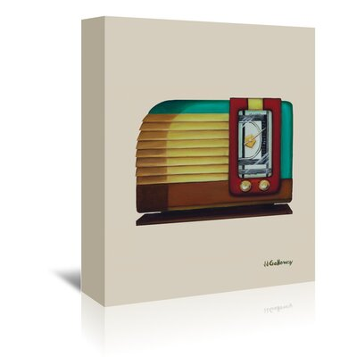 Americanflat 'Old Fashion Radio' by JJ Galloway Art Print Wrapped on Canvas