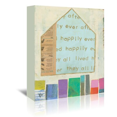 Americanflat 'Happy Home in Blue' by Julie Beyer Graphic Art Wrapped on Canvas