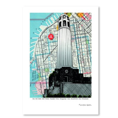 Americanflat Colt Tower - San Francisco' by Lyn Nance Sasser Graphic Art