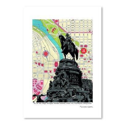 Americanflat George Washington Monument Philadelphia' by Lyn Nance Sasser Graphic Art