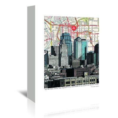 Americanflat 'Kansas City Skyline' by Lyn Nance Sasser and Stephen Sasser Graphic Art Wrapped on Canvas