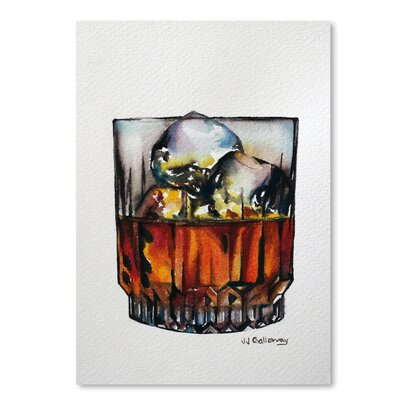 Americanflat 'Scotch on The Rocks' by JJ Galloway Art Print