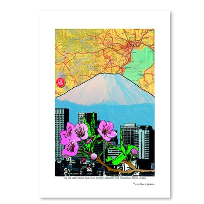 Americanflat Fuji-Cherry and Downtown' by Lyn Nance Sasser Graphic Art