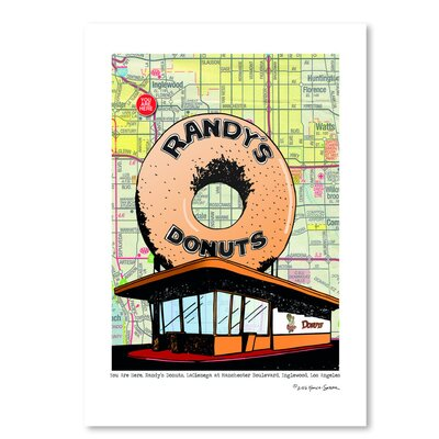 Americanflat 'Randys Donuts' by Lyn Nance Sasser and Stephen Sasser Graphic Art