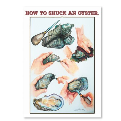 Americanflat How to Suck An Oyster' by JJ Galloway Art Print
