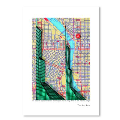 Americanflat 'Oregon Convention Center' by Lyn Nance Sasser and Stephen Sasser Graphic Art