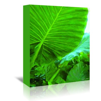 Americanflat 'Tropical Leaves' by Graffi Tee Studios Graphic Art Wrapped on Canvas