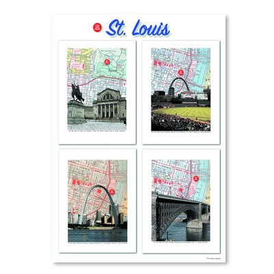 Americanflat 'Big St. Louis Poster' by Lyn Nance Sasser and Stephen Sasser Graphic Art