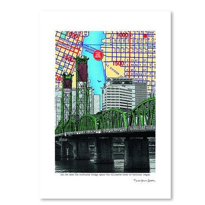 Americanflat 'Hawthorne Bridge Portland' by Lyn Nance Sasser and Stephen Sasser Graphic Art