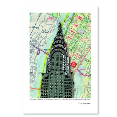 Americanflat 'Chrysler Building - Nyc' by Lyn Nance Sasser and Stephen Sasser Graphic Art
