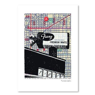 Americanflat 'Franz Bread Sign Portland' by Lyn Nance Sasser and Stephen Sasser Graphic Art