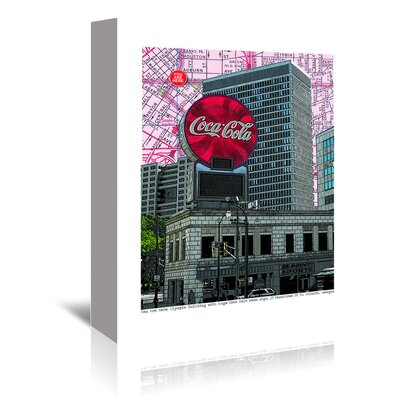 Americanflat 'Coca Cola Atlanta, Georgia' by Lyn Nance Sasser and Stephen Sasser Graphic Art Wrapped on Canvas