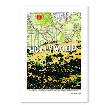 Americanflat 'Hollywood Sign' by Lyn Nance Sasser and Stephen Sasser Graphic Art