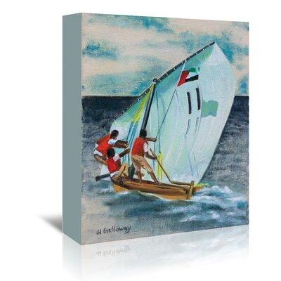Americanflat 'Sailing Down' by JJ Galloway Art Print Wrapped on Canvas