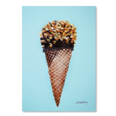 Americanflat Nutty Ice Cream Cone' by JJ Galloway Art Print