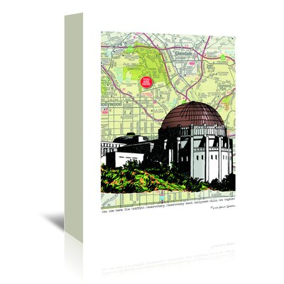 Americanflat 'Griffith Observatory' by Lyn Nance Sasser and Stephen Sasser Graphic Art Wrapped on Canvas