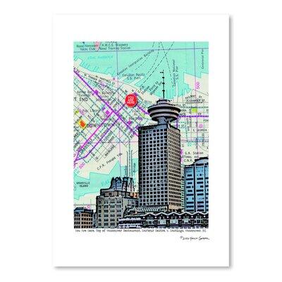 Americanflat 'Revolving Restaurant Vancouver' by Lyn Nance Sasser and Stephen Sasser Graphic Art