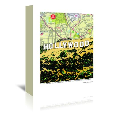 Americanflat 'Hollywood Sign' by Lyn Nance Sasser and Stephen Sasser Graphic Art Wrapped on Canvas