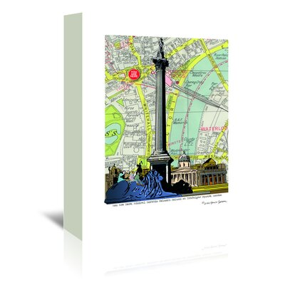 Americanflat 'Nelsons Column London' by Lyn Nance Sasser and Stephen Sasser Graphic Art Wrapped on Canvas